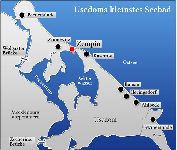 Insel Usedom Karte Ostsee.Ihre Ferienwohnungen In Zempin Ihr Urlaubsort